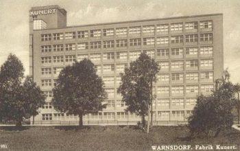 pletarna firmy kunert budova 2 bratislavska ulice arch Rudolf Dinnebier historic pohlednice varnsdorf